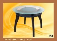 Кръгла холна маса със стъкло